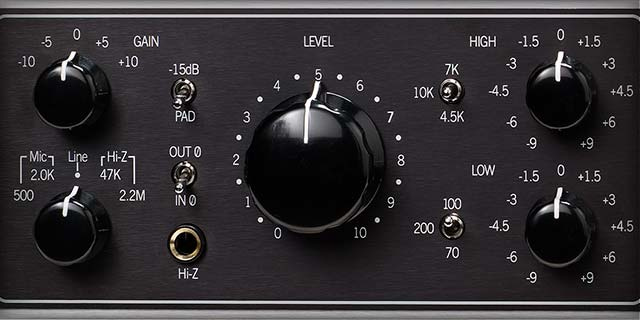 The 610B — A World Renowned Mic Preamp