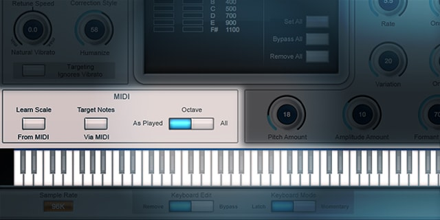 Realtime Pitch Correction with MIDI Control
