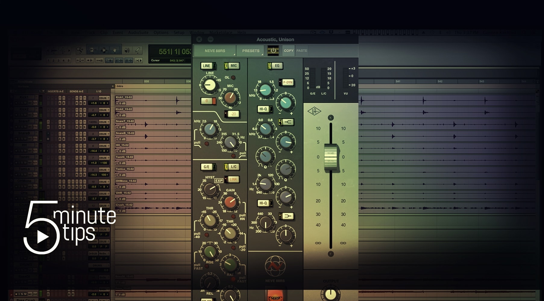 5-Minute UAD Tips: Neve 88RS Channel Strip Collection