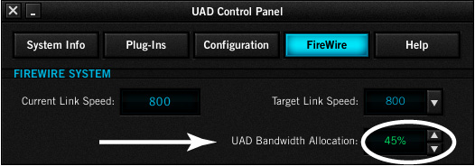 UAD Bandwidth Allocation