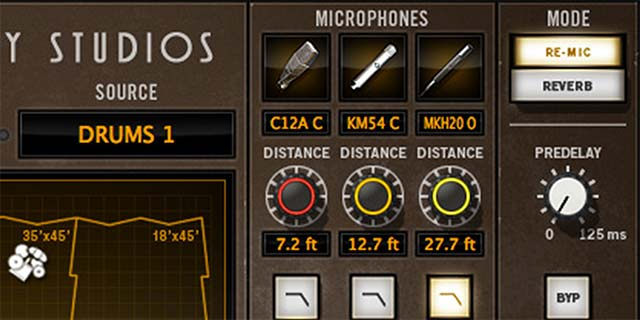 Transform Tones With Reverb and Re-Mic Modes