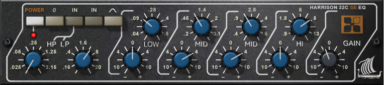 The UAD Harrison 32C SE Console EQ