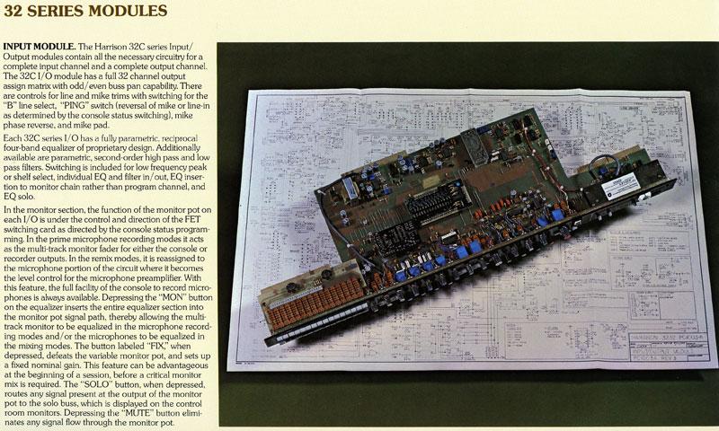 Original Harrison 32C promotional information