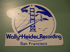 Wally Heider's sticker