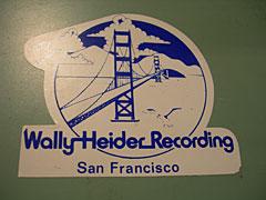 Wally Heider's sticker