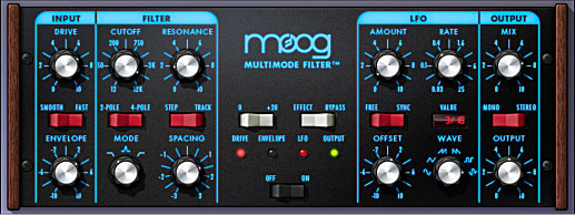 UAD Moog Multimode Filter screenshot