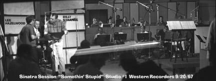 Frank Sinatra recording session