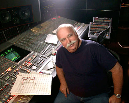 Bruce Swedien sitting at console