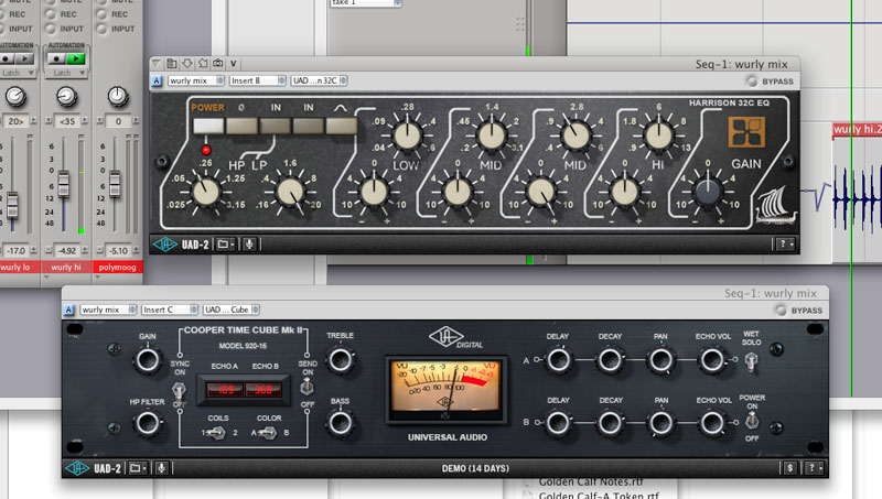 Harrison EQ screenshot