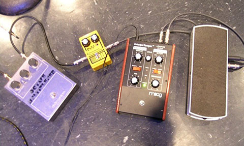 Guitar effects pedalboard