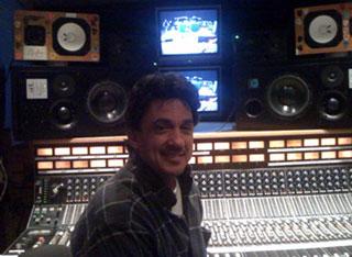 Niko Bolas in the studio