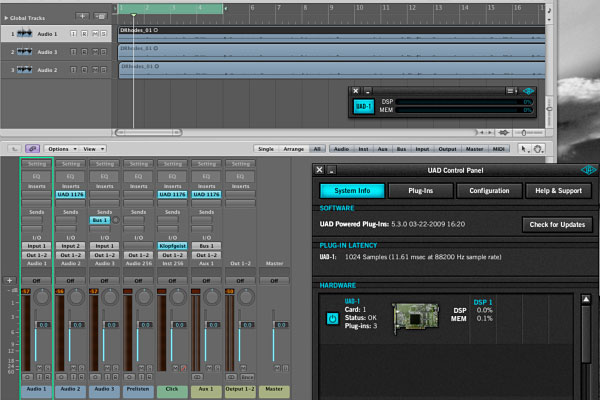 Logic & UAD Screenshot 1