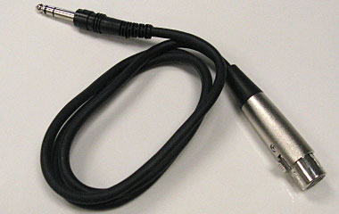 Female XLR to Male TRS Cable