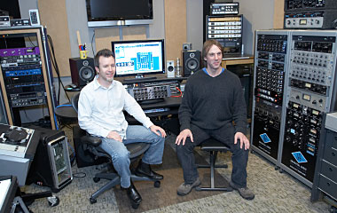 Product Manager Will Shanks and Dr. David Berners in the UA Studio
