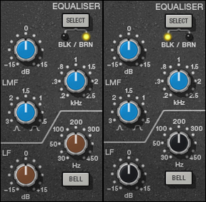 SSL E Series Brown and Black EQs