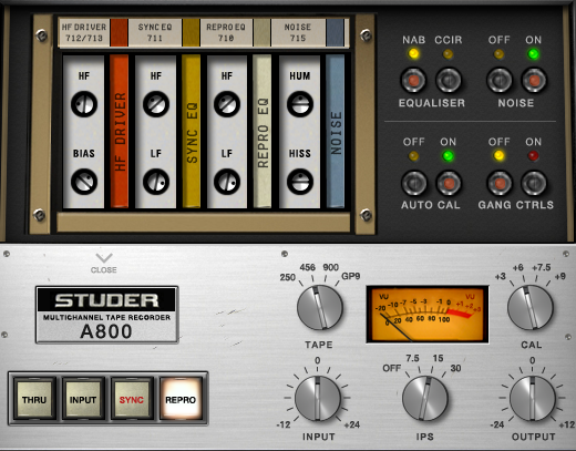 Studer A800 Secondary Control Panel