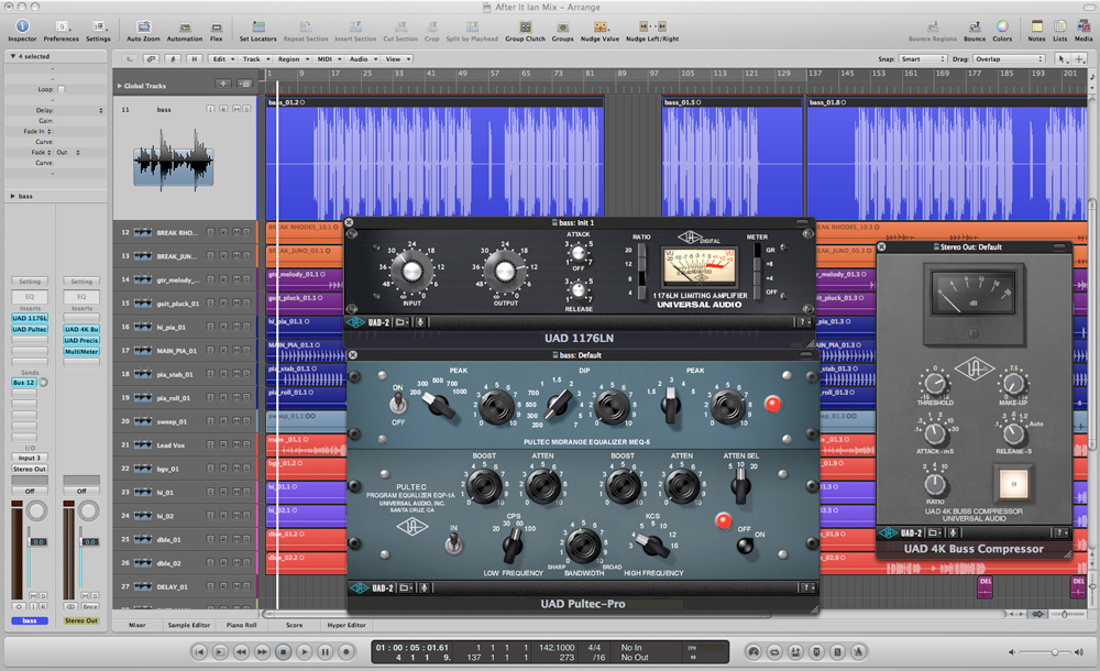 Bass Guitar UAD Plug-Ins Screenshot
