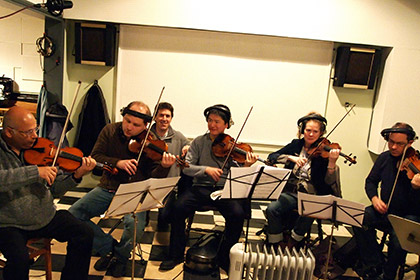 "String recording session for ""Just Give Me A Chance."