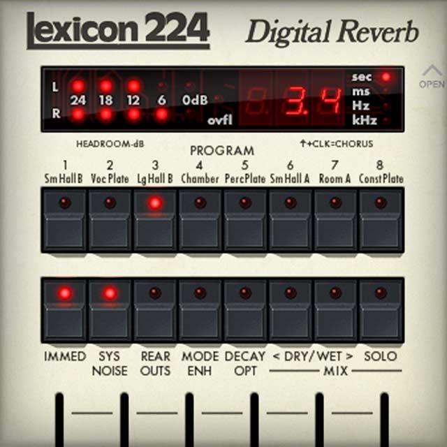 lexicon 224 digital reverb plug in universal audio. Black Bedroom Furniture Sets. Home Design Ideas