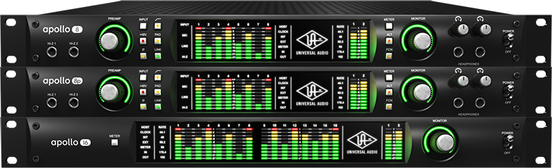 Apollo Audio Interfaces with Realtime UAD Processing and Thunderbolt