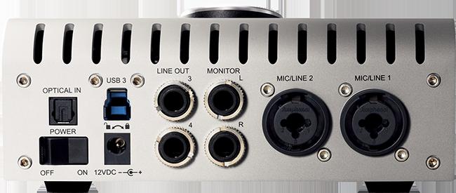 Apollo Twin USB back panel