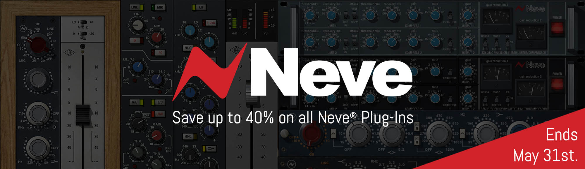 Save up to 40% on all Neve plug-ins