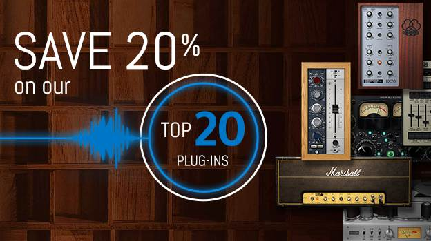 Save 20% on our Top 20 Plug-Ins!