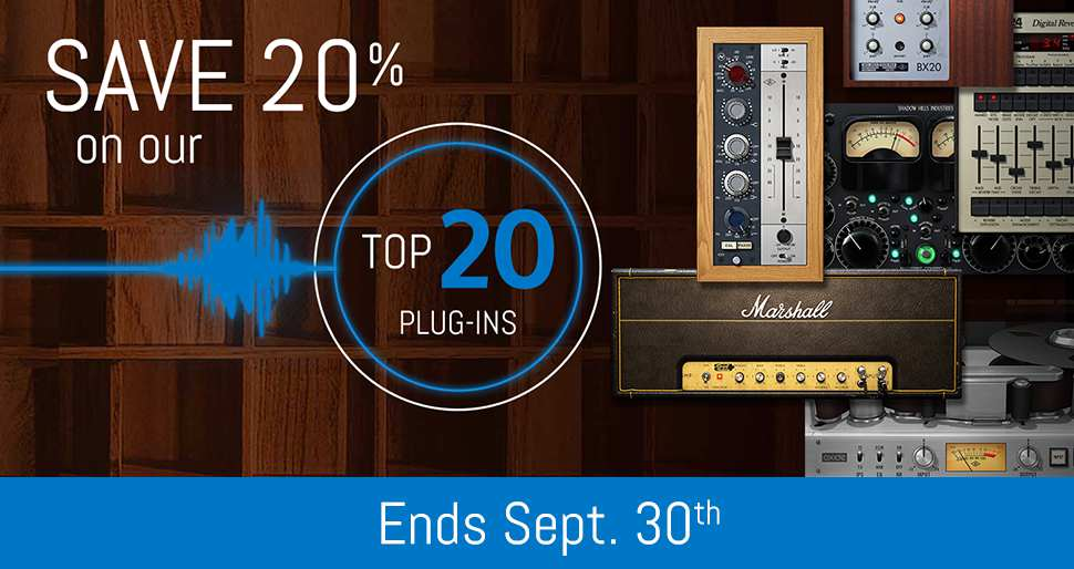 Huge savings on plug-ins from Manley, Fender, Lexicon & more!