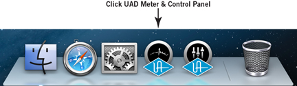 Launching the UAD Meter & Control Panel: Mac
