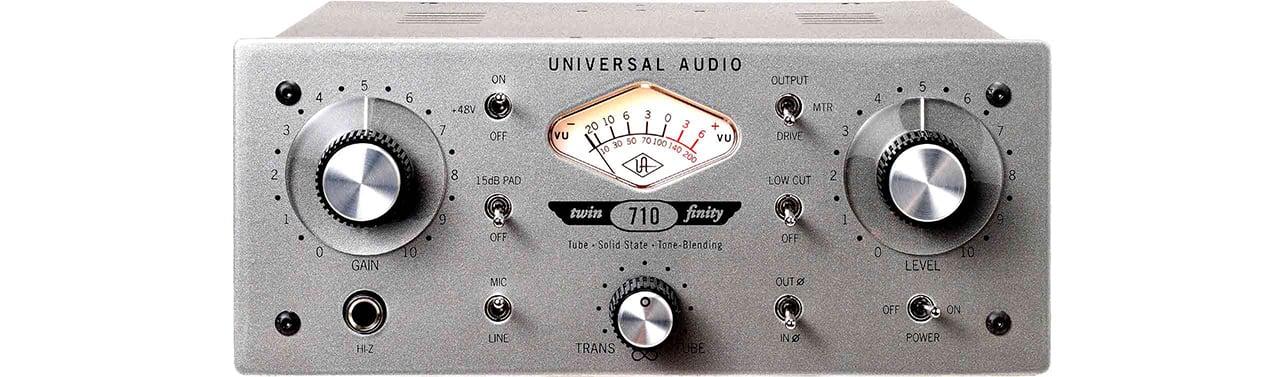 Universal Audio 710 Twin-Finity mikrofon előfok és DI