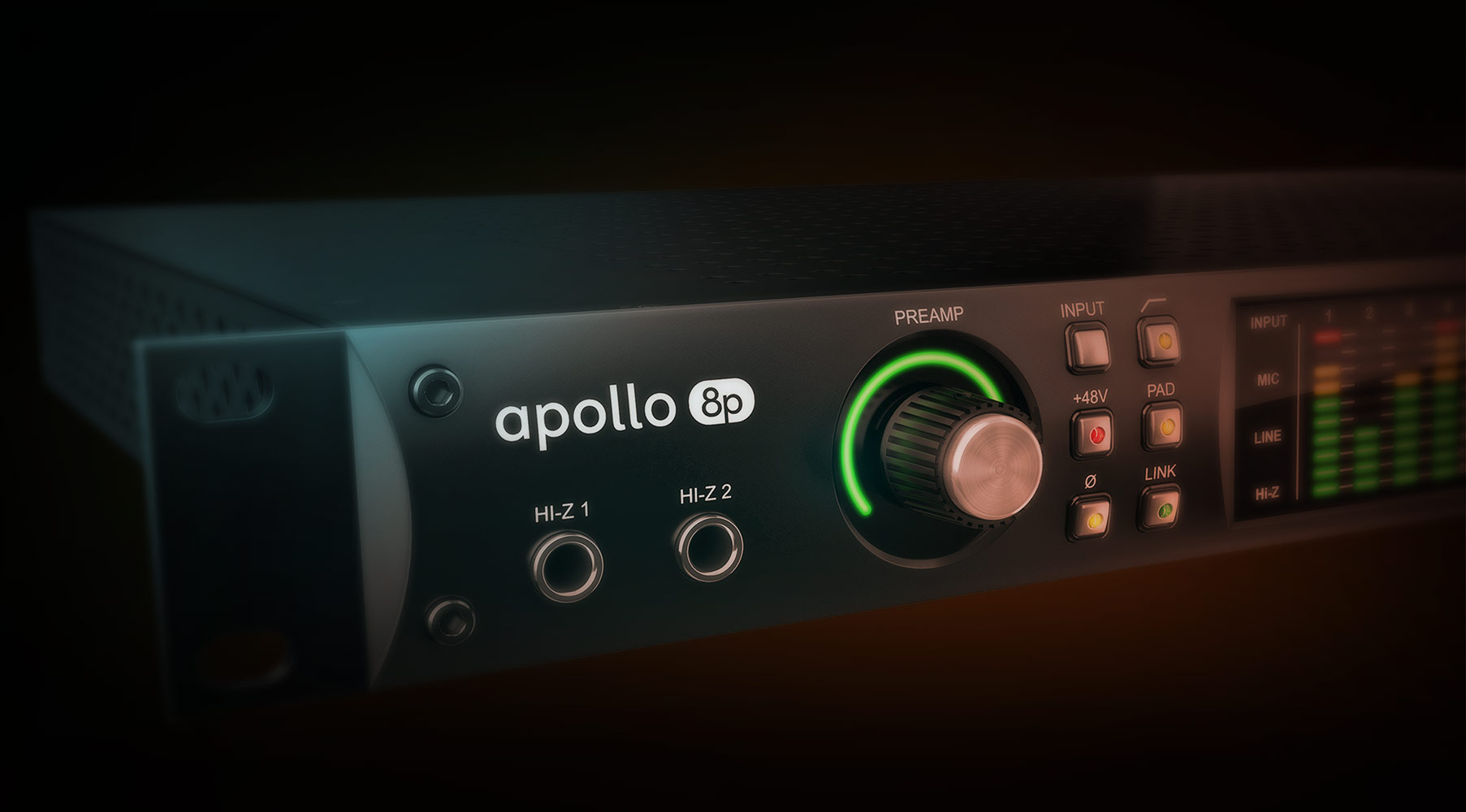 Apollo 8p Thunderbolt Audio Interface Universal Band 2 Preamplifier