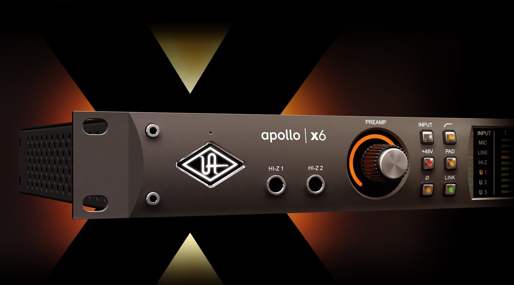 Apollo X6 Thunderbolt Audio Interface Universal Dynamic Mic Preamplifier Circuit