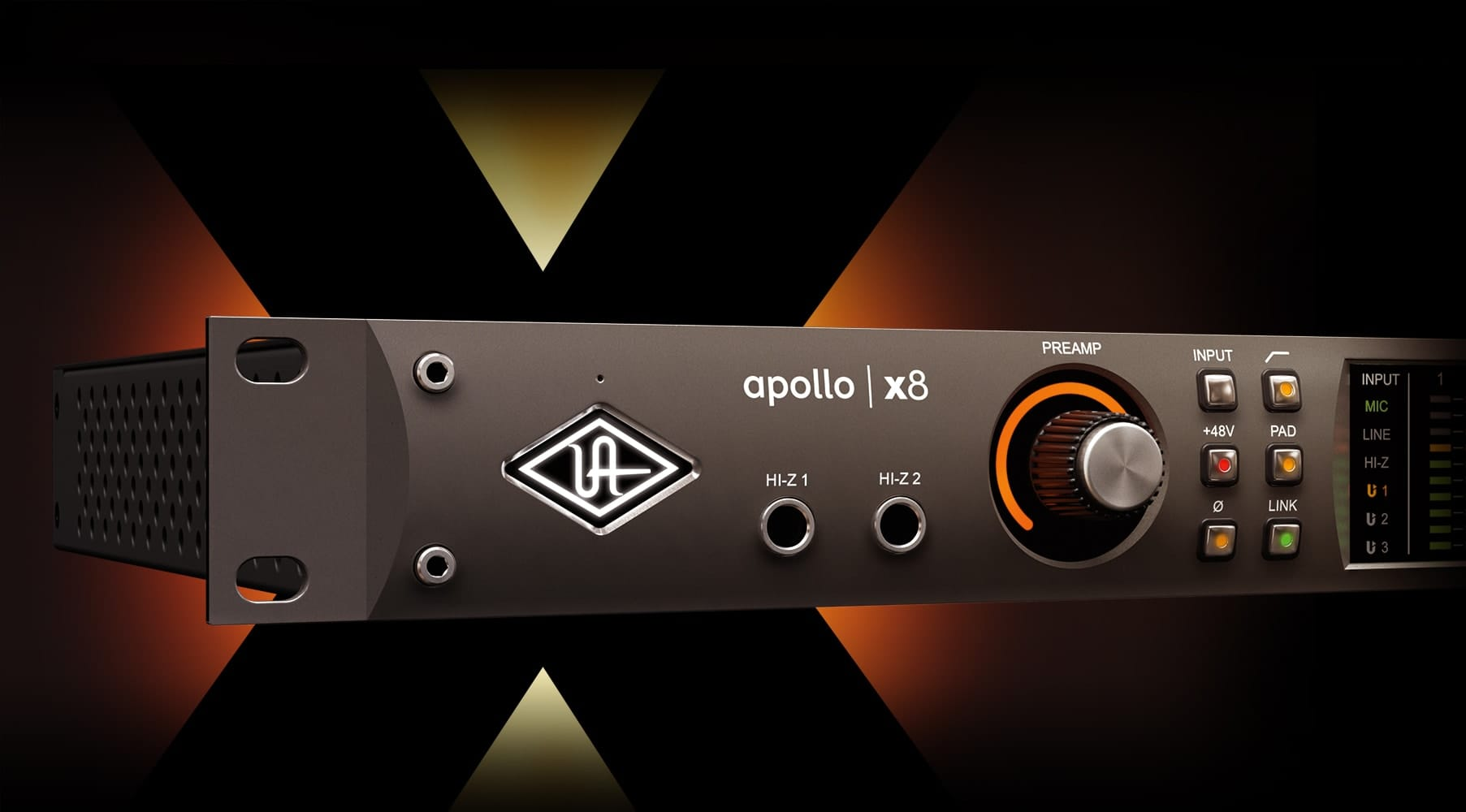Apollo X8 Thunderbolt Audio Interface Universal Low Jitter Sige Vcsos