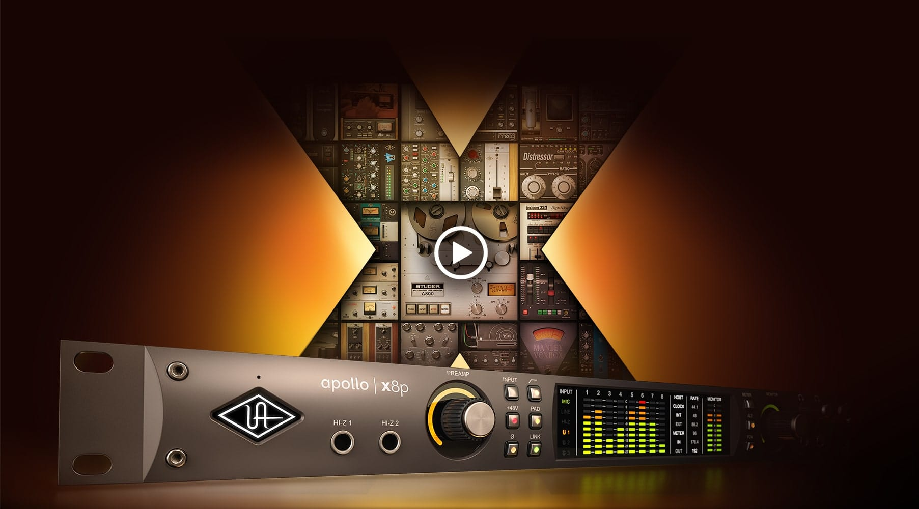 Apollo X | Thunderbolt Studio Interface | Universal Audio