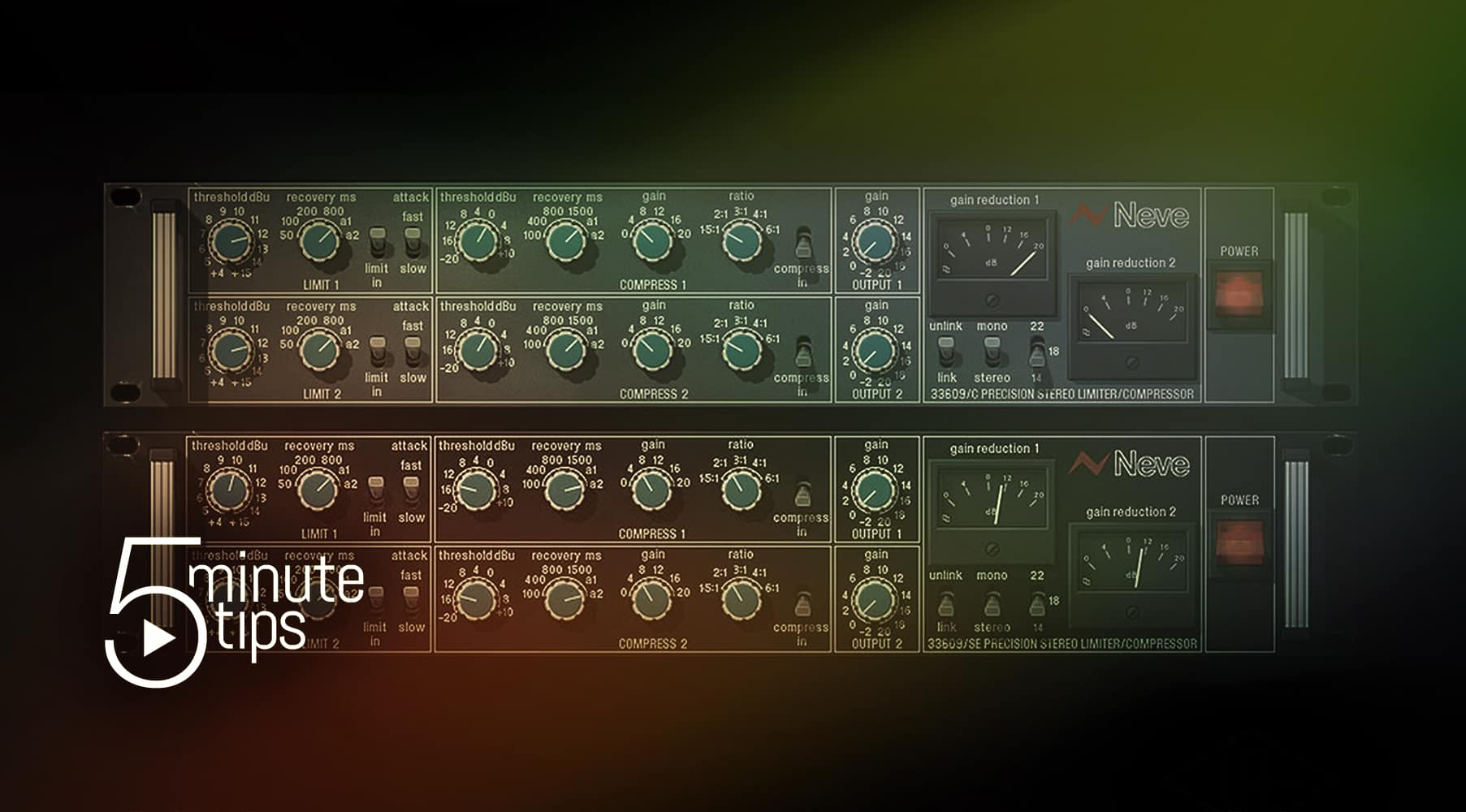 5-Minute UAD Tips: Neve 33609 Compressor