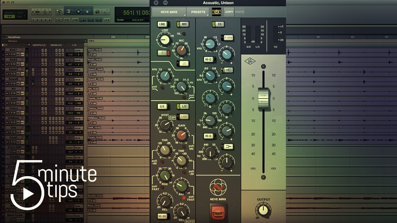 5-Minute UAD Tips: Neve 88RS Channel Strip Collection | Universal Audio