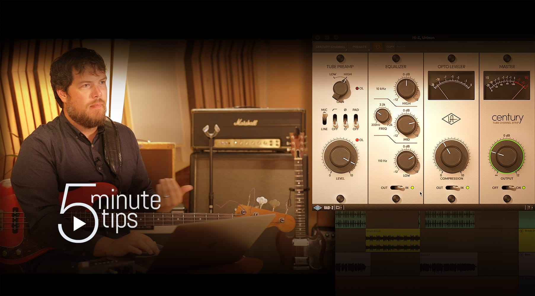 5-Min UAD Tips: Bass & Electric Guitar with Century Tube Channel Strip