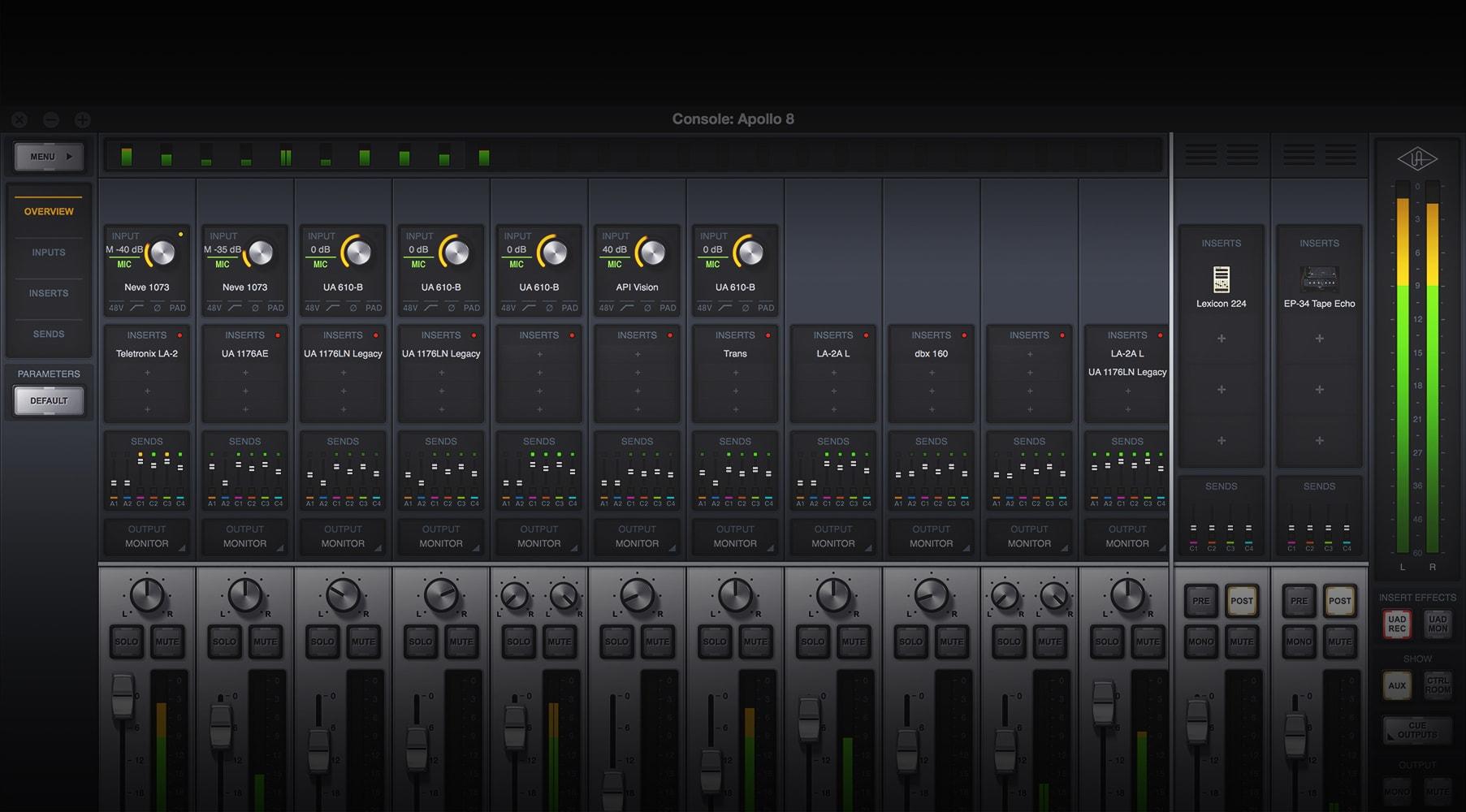 Using Apollo & Apollo 16 Console Applications   Universal Audio