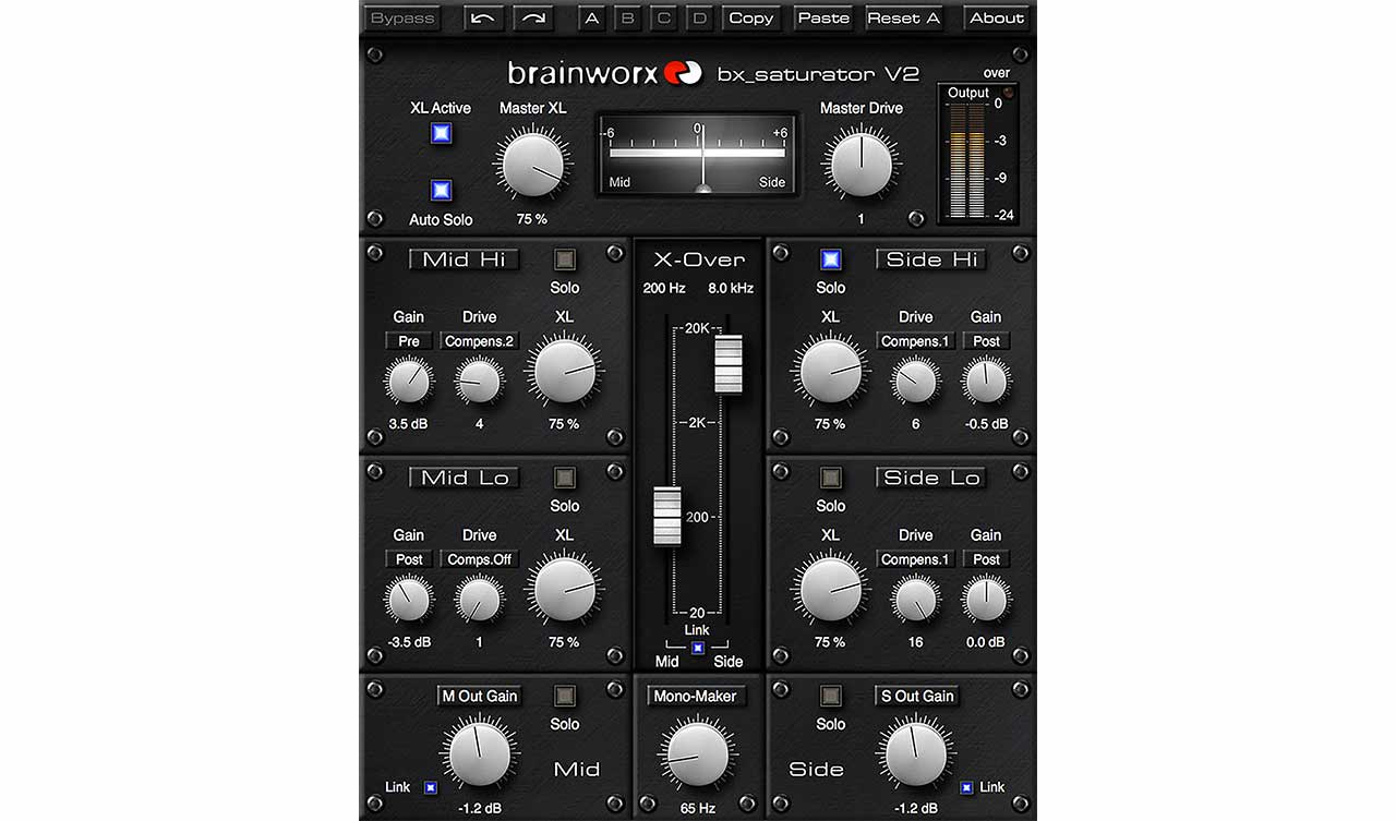 The Brainworx Bx Saturator V2 Plug In For Uad 2 And Apollo Interfaces Is A Ful Multi Band M S Mid Side Processor Allowing You To Add Saturation