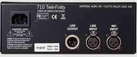 710 Twin-Finity Mic Preamp Rear