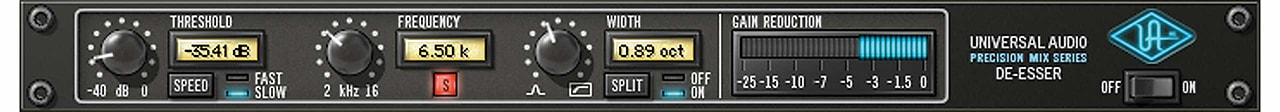 Precision de esser uad audio plugins universal audio the precision de esser plug in for uad 2 hardware and apollo interfaces lets you easily remove unwanted sibilance and high end problems from individual stopboris Image collections