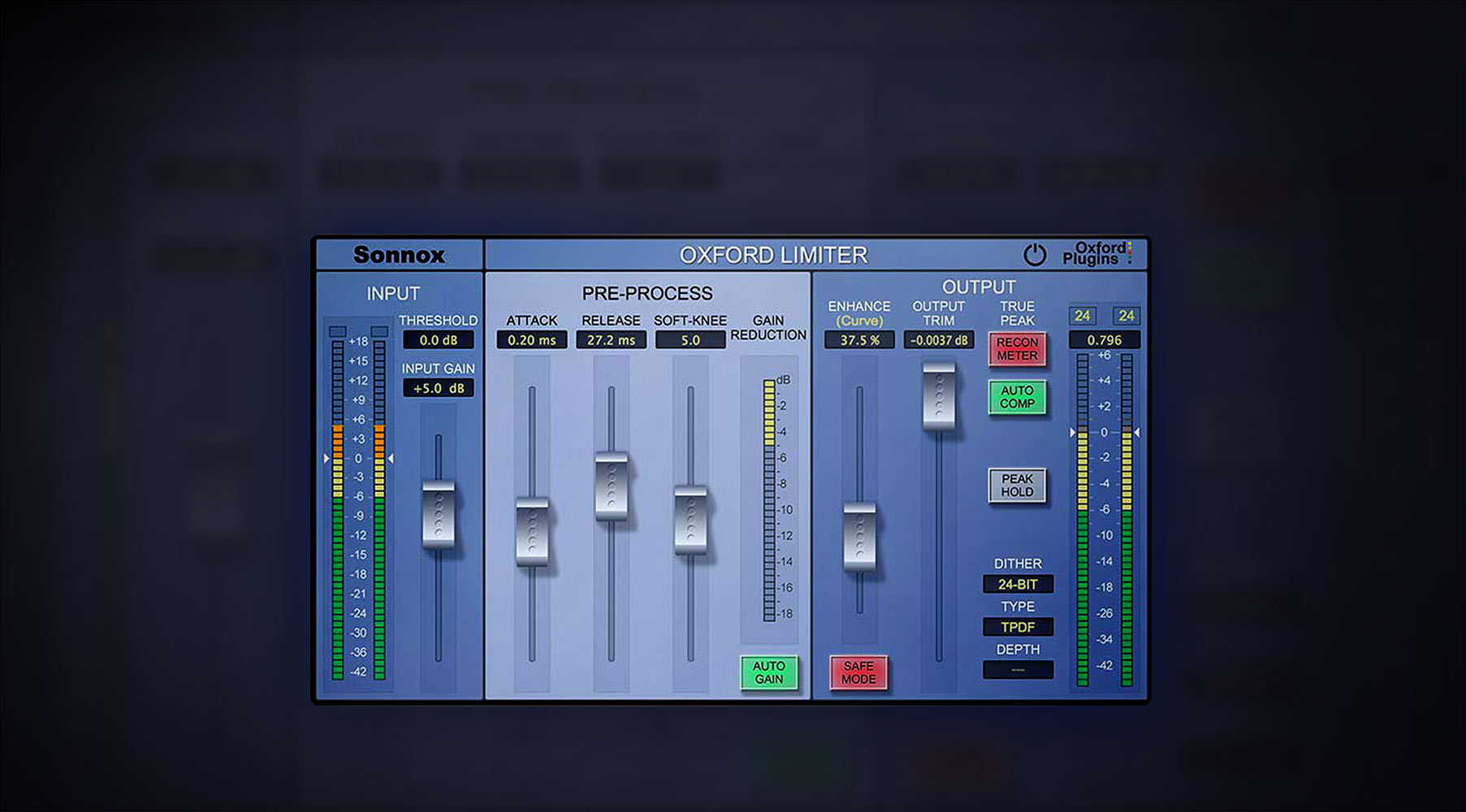 Plug-In Sonnox® Oxford Limiter v2