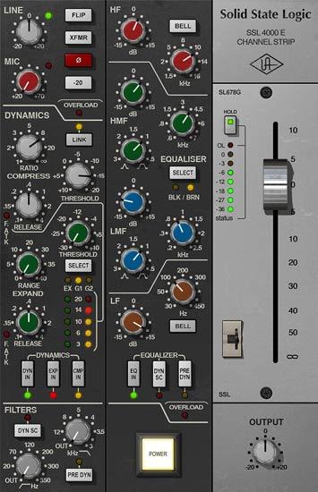 SSL 4000 E Channel Strip Collection
