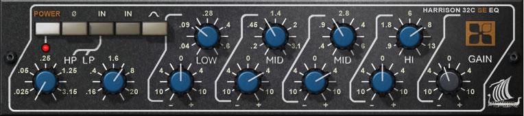 The UAD Harrison 32C SE Console EQ