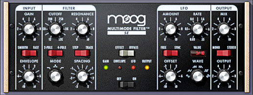 UAD Moog Multimode Filter SE screenshot