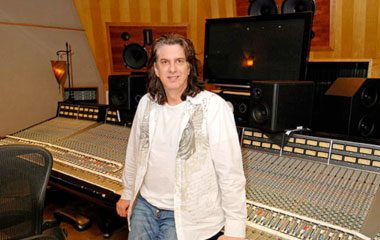 Mike Shipley in the studio