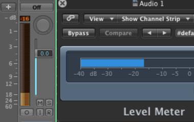 Logic Pro DAW Meters