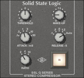 SSL G Series plug-in controls