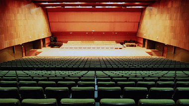 Concert hall viewed from the back