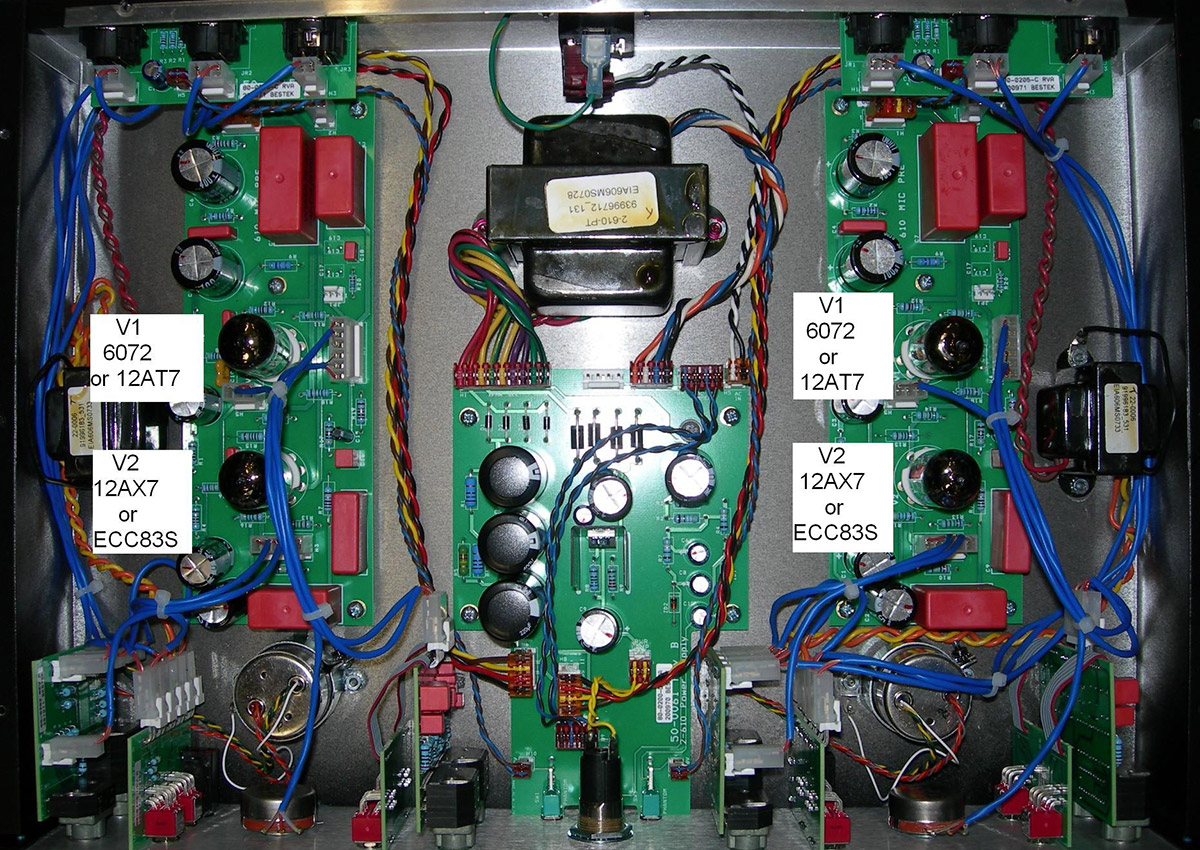 Replacing Tubes In Your Ua Analog Hardware Universal Audio Support Wiring A Switch The Middle Of Circuit 2 610 Grayface Model Tube Locations